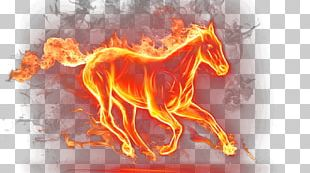 Mustang Fire Horse Display Resolution PNG