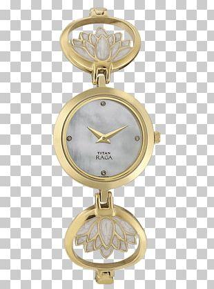 Titan Company Watch Strap Metal Woman PNG