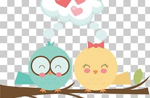 Owl Drawing Love PNG