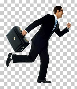 Stock Photography Running Businessman With Briefcase PNG