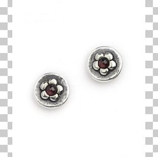 Earring Body Jewellery Silver Gemstone PNG
