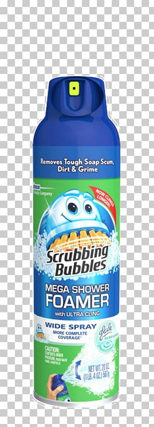 Scrubbing Bubbles Toilet Cleaner Foam Shower Cleaning PNG