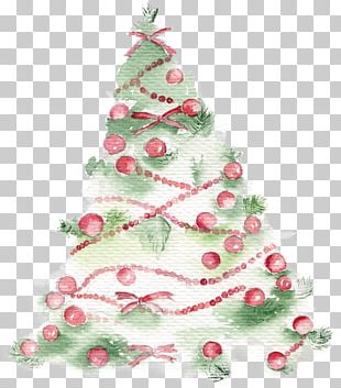 Christmas Tree Drawing Poster Illustration PNG