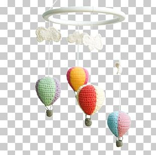 Crochet Jewelry Hot Air Balloon Amigurumi PNG