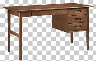Modern Wooden Desk PNG