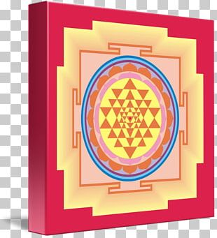 Sri Yantra Sacred Geometry Gallery Wrap Wall Decal PNG
