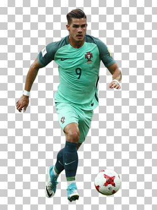André Silva Portugal National Football Team Soccer Player 3D Rendering PNG