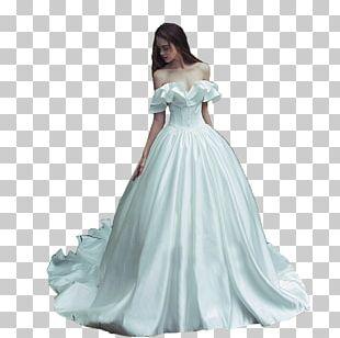 Wedding Dress Shoulder Cocktail Dress Satin PNG