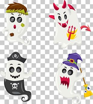 Halloween Ghost Illustration PNG