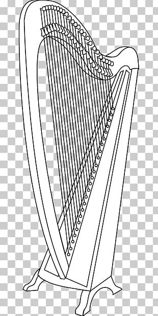 Celtic Harp Musical Instruments PNG