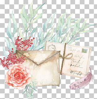 Paper Watercolor Painting Envelope PNG