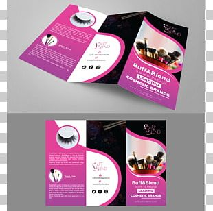 Make-up Artist Cosmetics Makeup Brush Brochure PNG