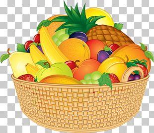 Basket Of Fruit Cartoon PNG