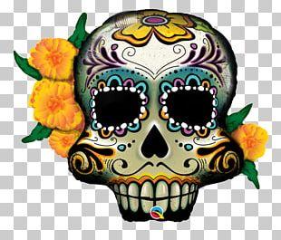 Calavera Day Of The Dead Balloon Skull Halloween PNG