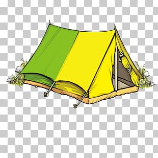 Tent Camping Illustration PNG