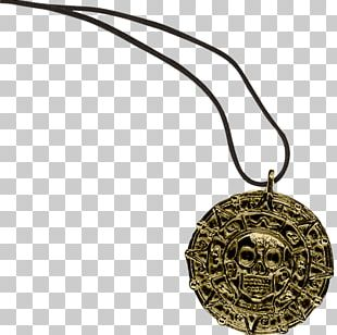 Piracy Coin Necklace Pirates Of The Caribbean Medal PNG