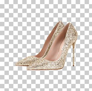 High-heeled Footwear Court Shoe Gold Jewellery PNG