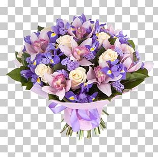 Flower Bouquet Orchids Garden Roses Yekaterinburg PNG