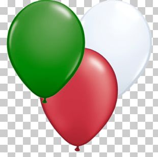 Green Italy White Red Toy Balloon PNG