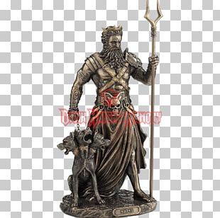 Statue Hades Figurine Bronze Sculpture Greek Mythology PNG