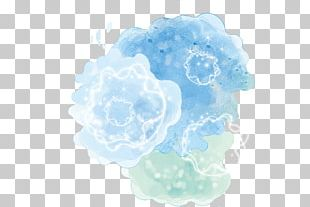 Watercolor Painting Blue Fashion PNG