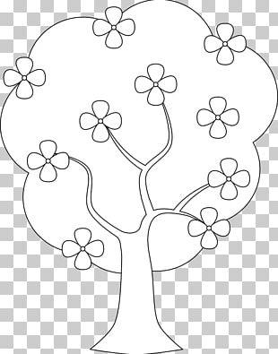 Floral Design Coloring Book Tree Branch Leaf PNG