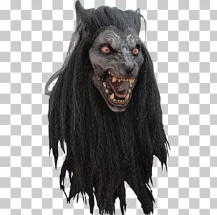 Gray Wolf Halloween Costume Mask Werewolf PNG