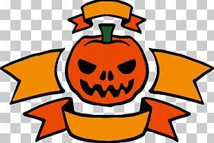 Jack-o-lantern Halloween Banner PNG