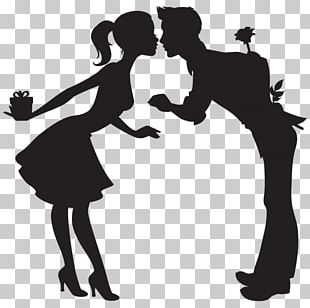 Silhouette Valentine's Day PNG