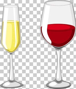 Red Wine Champagne Wine Glass Cup PNG