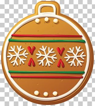 Christmas Ornament Candy Cane Gingerbread PNG