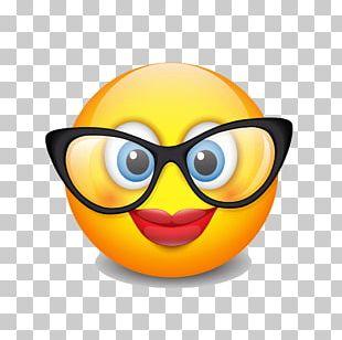 Emoticon Smiley Emoji Glasses PNG