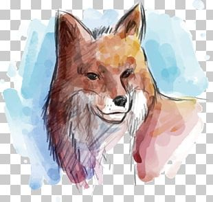 Gray Wolf Watercolor Painting Euclidean Animal PNG