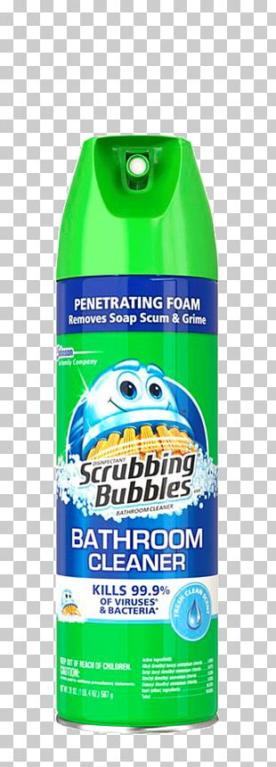 Toilet Cleaner Scrubbing Bubbles Bathroom Cleaning Bathtub PNG
