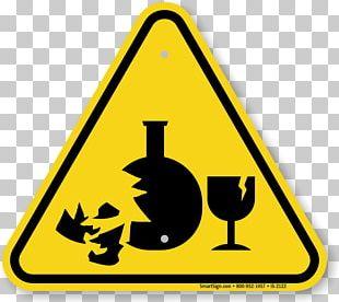Hazard Symbol Warning Sign Glass PNG