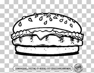 Hamburger French Fries Cheeseburger Drawing Coloring Book PNG