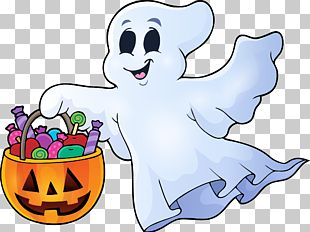 Ghost Halloween Illustration PNG