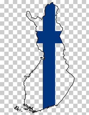 Flag Of Finland Map PNG