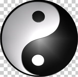 Yin And Yang Symbol 3D Computer Graphics PNG