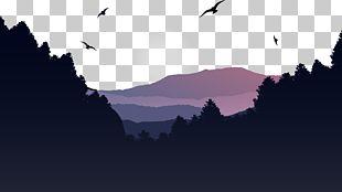 Mountain Euclidean Landscape PNG