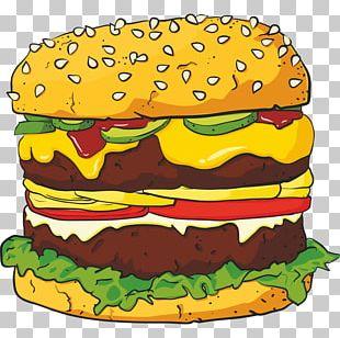 Hamburger Junk Food Cheeseburger Burger King French Fries PNG