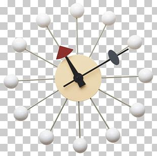 Eames Lounge Chair Egg Rolling Ball Clock PNG