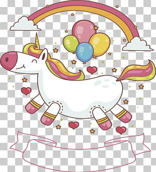 Lovely Unicorn Cover PNG