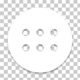 White Circle Font PNG