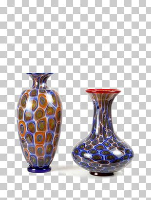Vase Ceramic Cobalt Blue Glass Pottery PNG