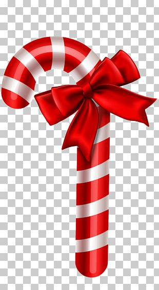 Candy Cane Christmas Ornament PNG