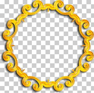 Gold Body Jewellery Pattern PNG