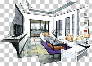 Interior Design Services Drawing Watercolor Painting Sketch PNG