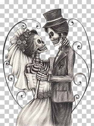 Calavera Day Of The Dead Drawing Bridegroom PNG