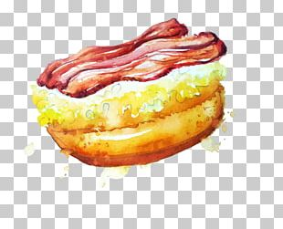 Food Watercolor Painting Doughnut PNG